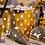 """Thumbnail: Pudełka na popcorn """"Groszki"""", złote, 8.8x7.5x15 cm, 4 szt."""