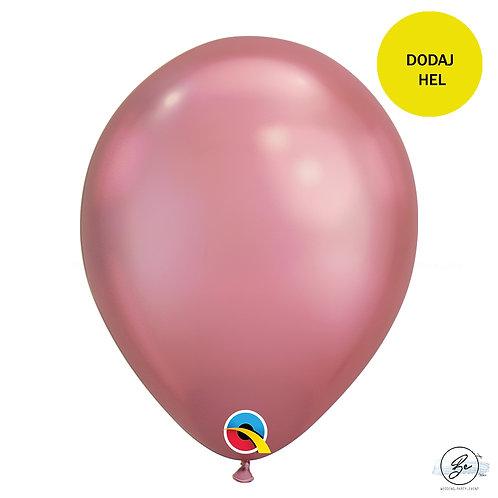 "Balon QL 11"", chrom pudrowy róż"