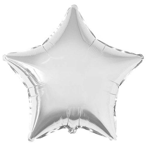 """Balon foliowy """"Gwiazda"""", srebrna, 19"""""""