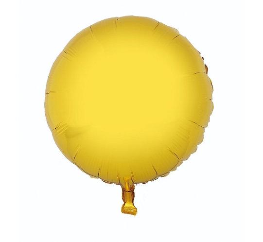 """Balon foliowy """"Okrągły"""", złoty, 18"""""""