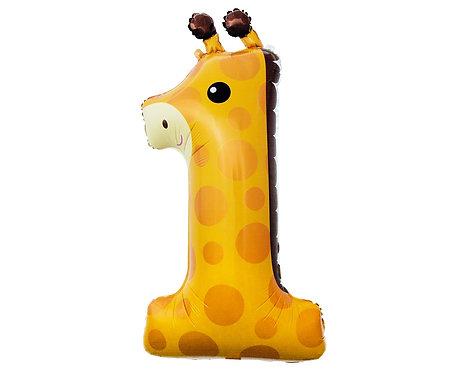 Balon foliowy Żyrafa - cyfra 1,80 cm