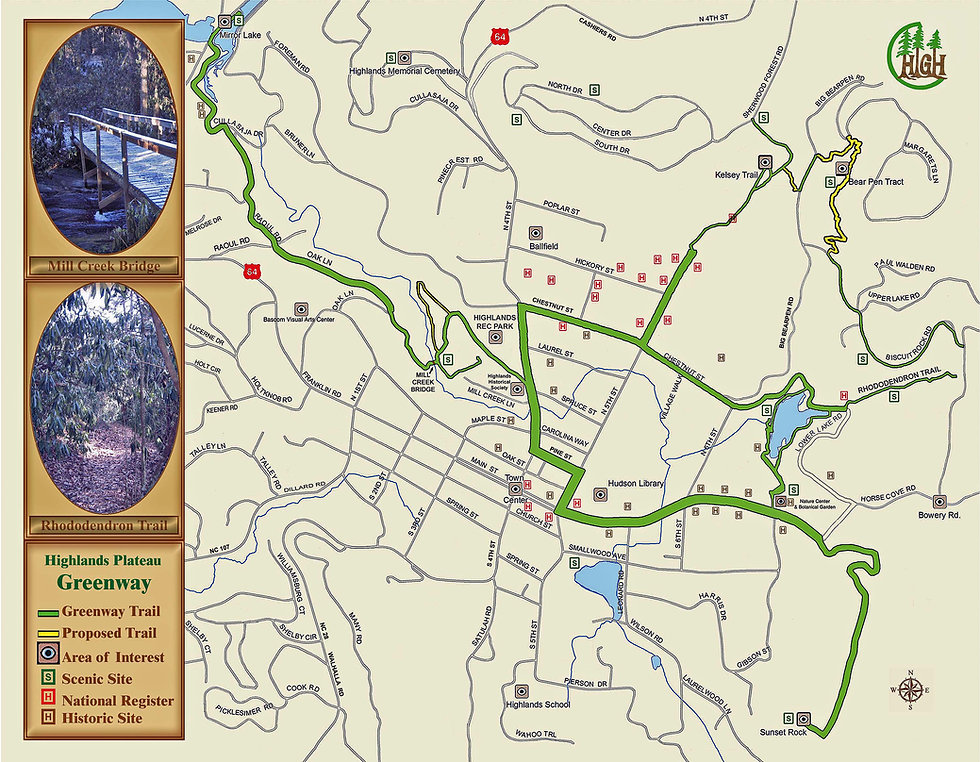 First Highlands Plateau Greenway Map 200
