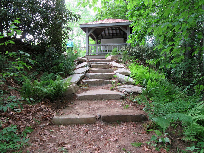 2016 Oak Street Gazebo Steps and Ferns.j