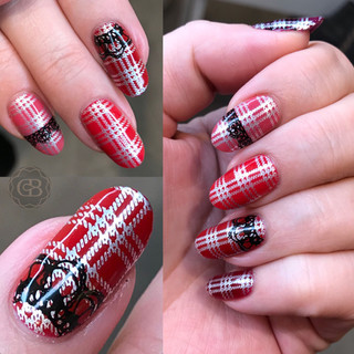 Shellac manicure Skotsk inspirert