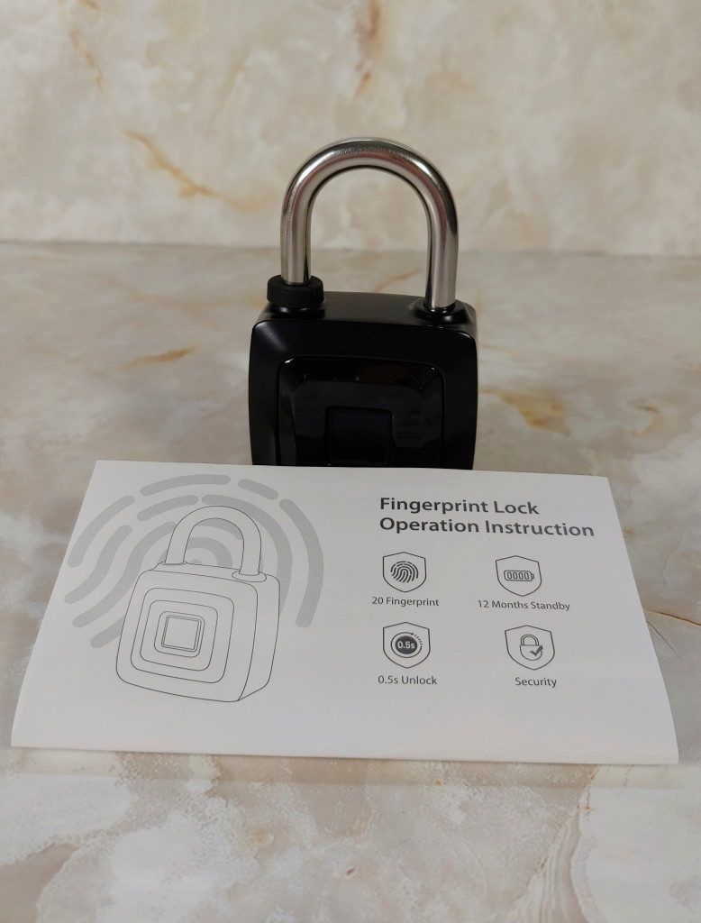 Keyless Fingerprint Lock with it's manual