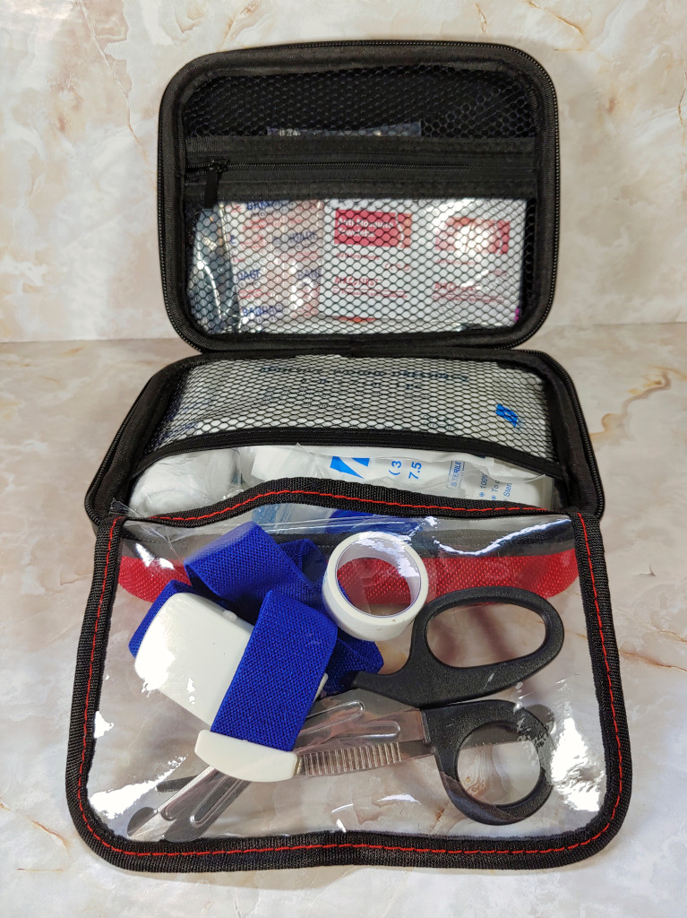 EnergeticSky First Aid Kit with medical supplies inside