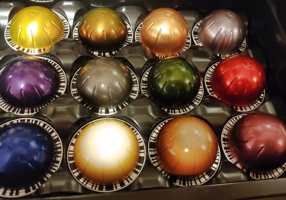 Nespresso Vertuo Next Espresso Machine pod taster box