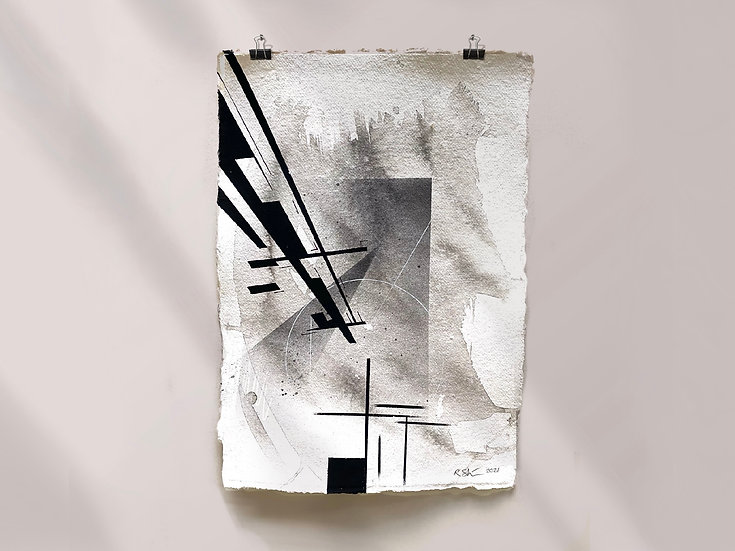 Out of Line | Abstract Painting Hanging