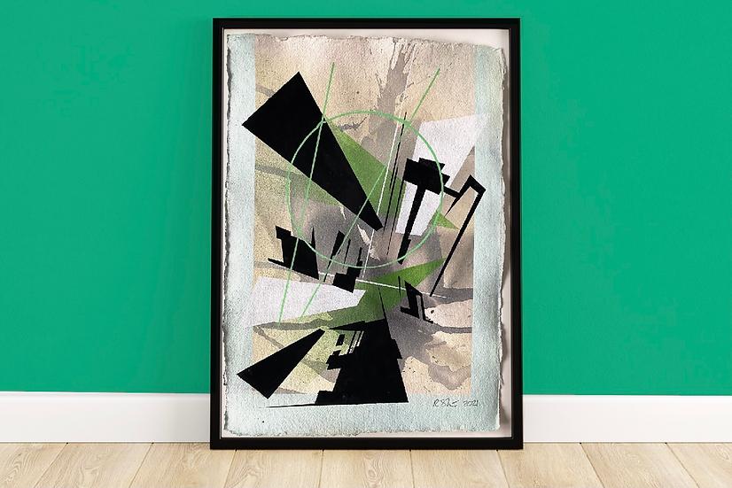 Broken Motion   Original Painting on 640gsm Kahdi Rag Paper
