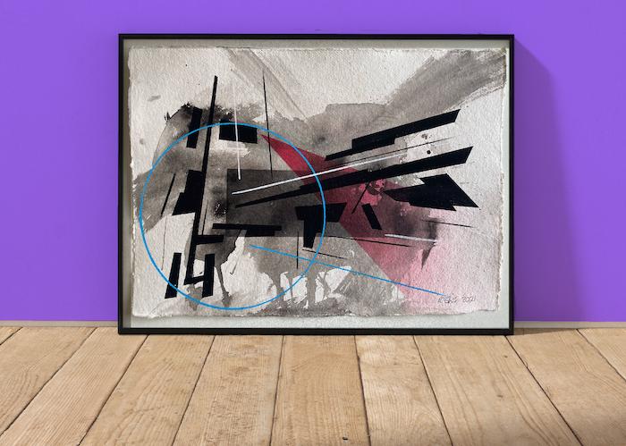 Disassemble | Original Painting on 640gsm Kahdi Rag Paper