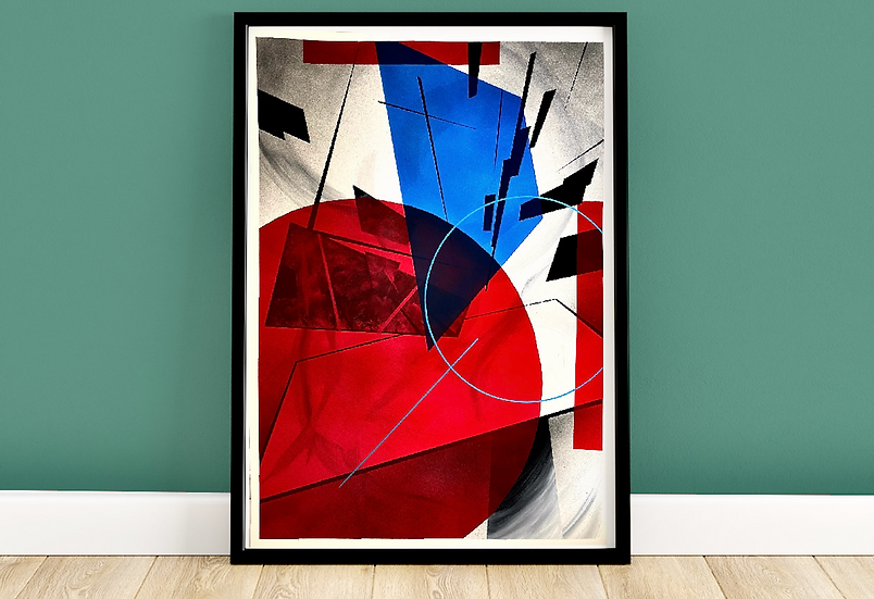 Fragments 001   Framed Abstract Painting on 300gsm Textured Paper