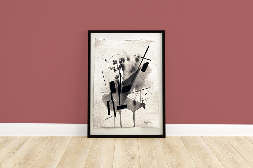 True | Abstract Painting Framed