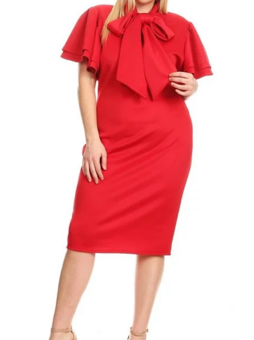Bow Dress-Red