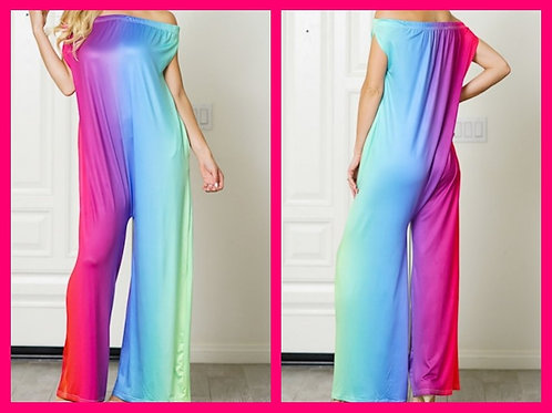 """Rainbow"" Colorful One Piece Jumpsuit"