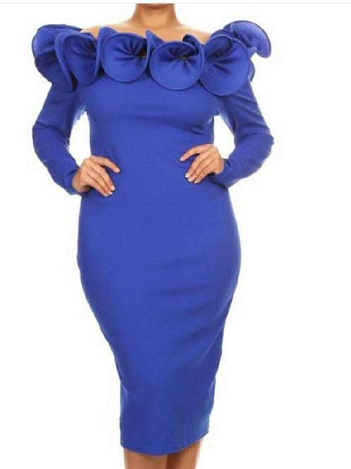 """""""Missy"""" Dress-Blue"""