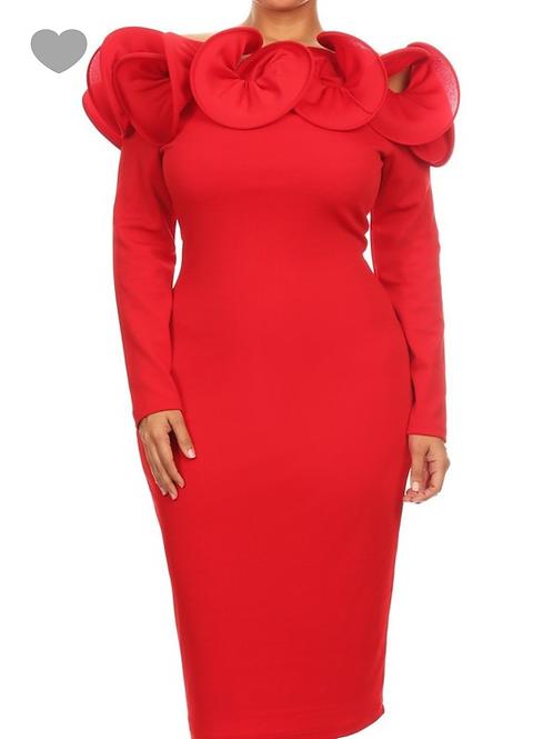 """Missy"" Dress-Red"