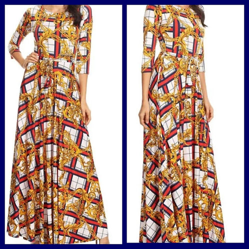 """""""Alexis"""" Maxi Dress with pockets and waist tie"""