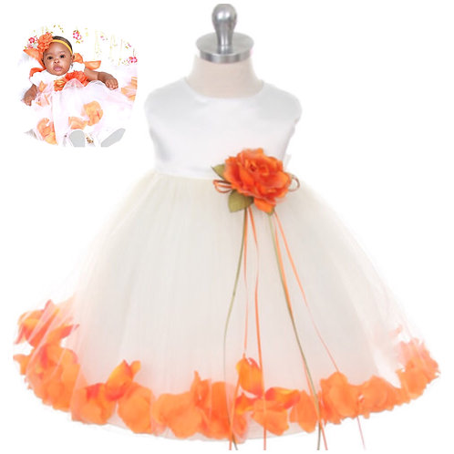 Orange Satin and tulle dress