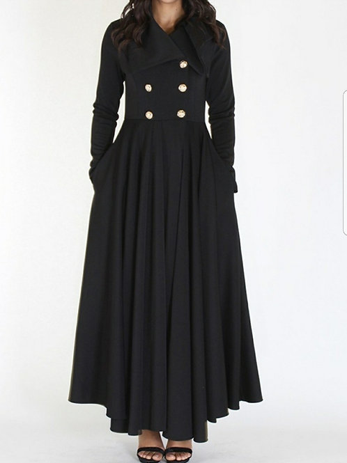 Coat Dress-Black