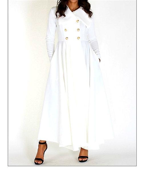 Coat Dress-White