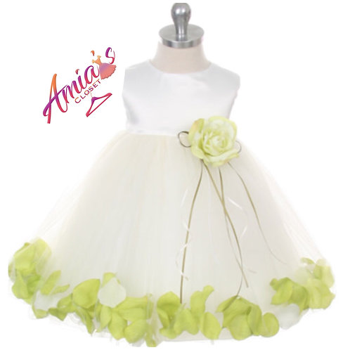Lime and white tulle dress