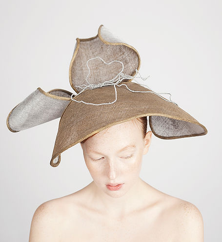 Amorphia collection bespoke hat by elena shvab millinery