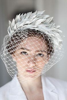Elena Shvab Millinery Bridal Hat Collection Mathilde veil hat