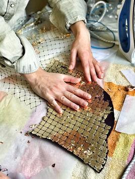 Metallic Foil in Millinery, process of making