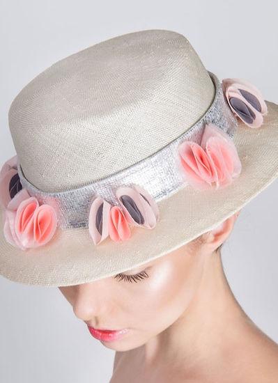 boater straw hat, elena shvab millinery.