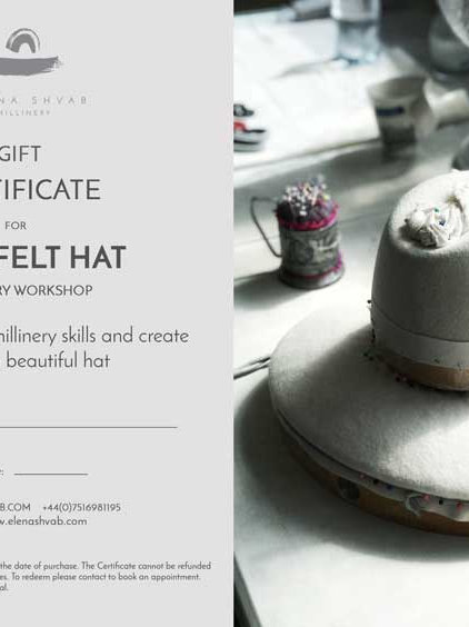 GIFT CERTIFICATE 2-Day Felt Hat Course
