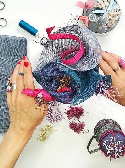DIY Lily Flower Fascinator Material Kit