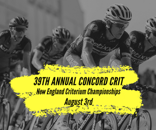 Concord Crit - August 3rd!