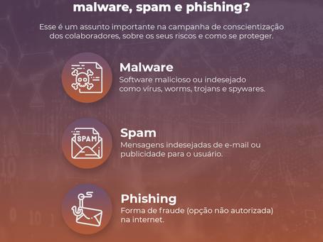 Você sabe a diferença entre malware, spam e phishing?