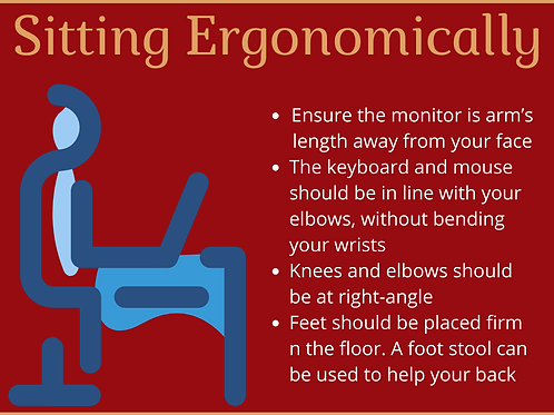 Ergonomic Sitting Poster