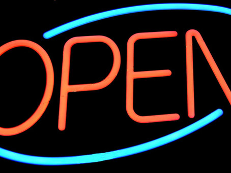 Come on in, we're open!