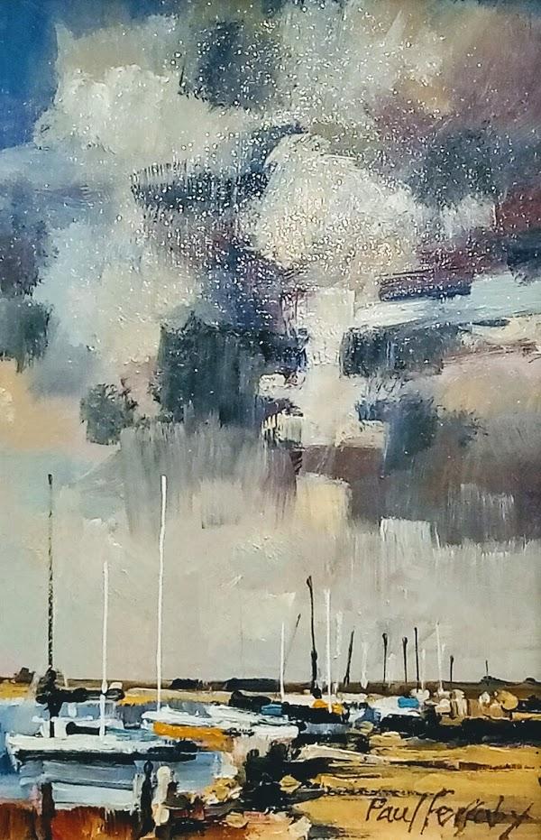 Blakeney sky and sails