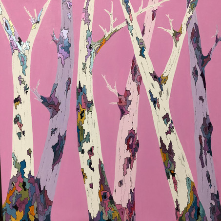Silver Birches Pink