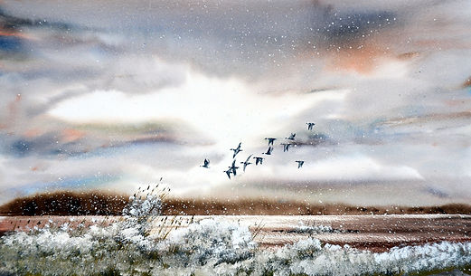 Framed watercolour  £380.00