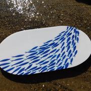Fish shoal platter