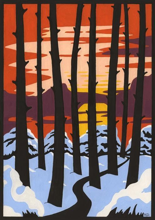 Winter Sunset £50.00