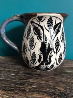 Hare mugs £20.00