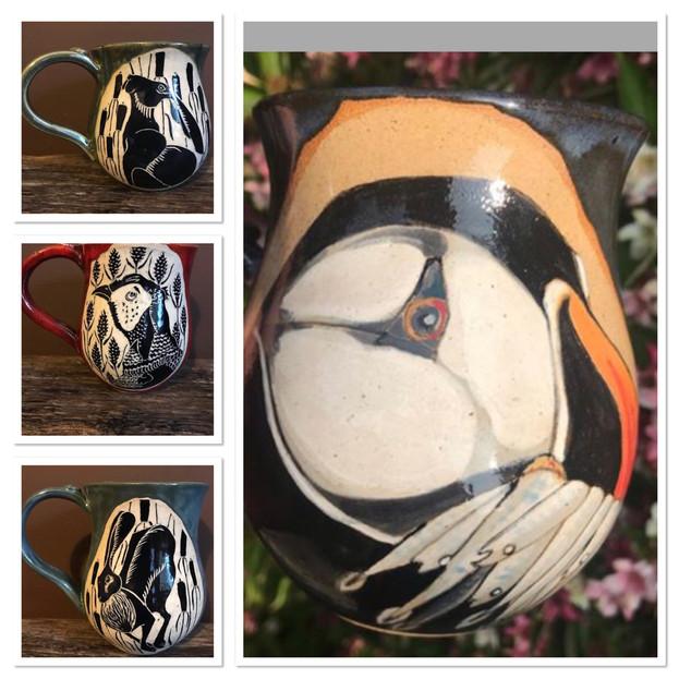 Puffin mugs £25.00