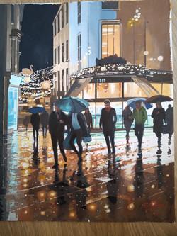London Street Norwich in the Rain