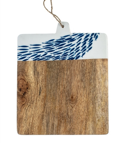 Fish shoal chopping board.