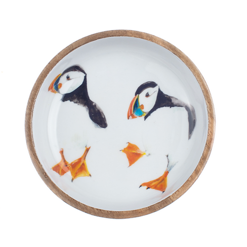 Shallow puffin bowl