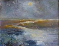 Moon on the Marsh