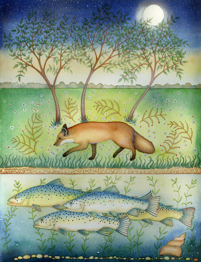 Thought-Fox and Fish