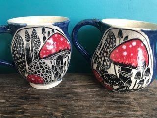 Mushroom Mugs  £20.00