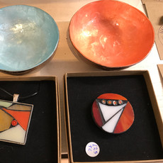 Bowls £10.00  Necklace  £20.00  Brooch  £20.00