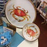 Crab bowl £20.00  crab platter  £45.00